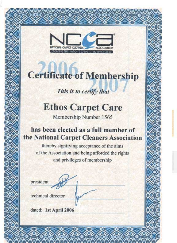 certificate ncca rug certificates cleaning persian london