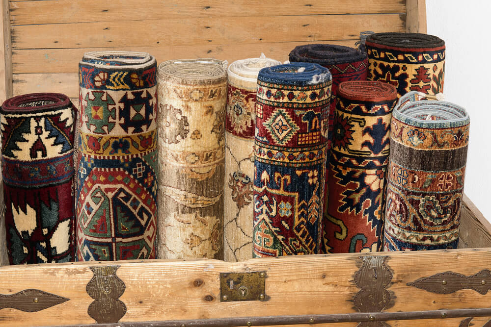 how to store rugs safely