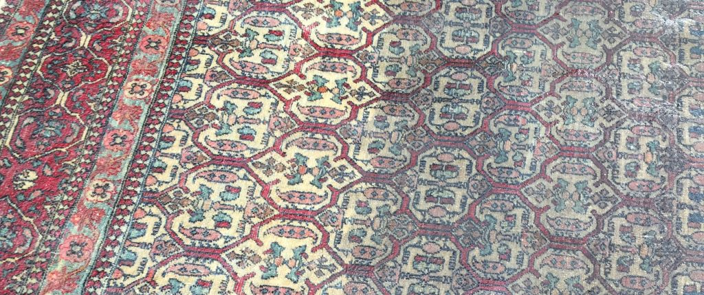 Rug Cleaning Isfahan Rug in London - Before and After